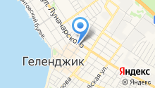 На Горького на карте