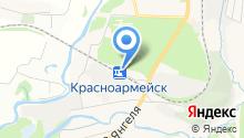 Красноармейск на карте