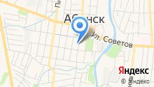 Управление социальной защиты населения министерства труда и социального развития Краснодарского края в Абинском районе на карте