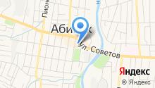 Абинский на карте