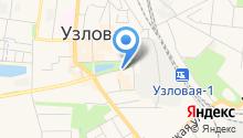 Автостоянка на Октябрьской на карте