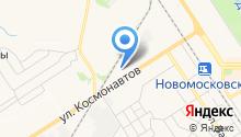 Новомосковск-трактор на карте