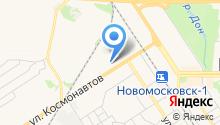 Автостоянка на ул. Космонавтов на карте