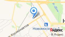 Новомосковская автошкола на карте
