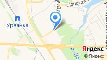 Автостоянка на ул. Дружбы на карте