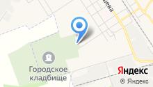 Городское Новомосковское кладбище на карте