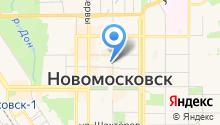 Новомосковские бани на карте