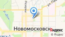 Новомосковская библиотечная система, МУК на карте