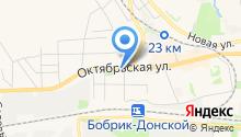 Магазин женской одежды и текстиля на Октябрьской на карте