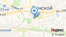 Отдел вневедомственной охраны по г. Донской, Управление вневедомственной охраны на карте