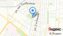 Центр кузовного ремонта на ул. 4-я линия на карте