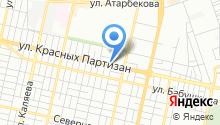 Автомойка на ул. Красных Партизан на карте