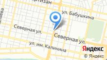 Автомойка на ул. Тургенева на карте
