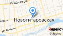 Продовольственный магазин на Советской (Новотитаровская) на карте