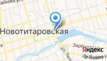 Магазин мясной продукции на Краснодарской (Новотитаровская) на карте