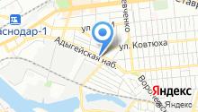 Автомойка на Адыгейской Набережной на карте