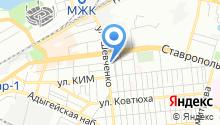 Автомойка на Кавказской на карте