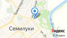 Управление Пенсионного фонда РФ по Семилукскому району Воронежской области на карте