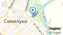 Семилукский районный отдел судебных приставов на карте
