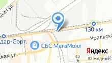 Автомойка на Новороссийской на карте