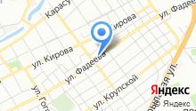Автомойка на ул. Фадеева на карте
