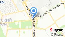 Автокомплекс на ул. Героев Сибиряков на карте