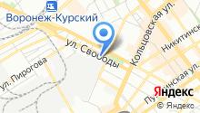 Гражданская оборона, защита населения и пожарная безопасность Воронежской области на карте