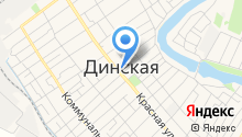 Магазин бытовой техники на Красной (Динская) на карте