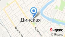 Динской центр торговли на карте
