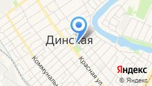 Магазин текстиля на ул. Чапаева (Динская) на карте