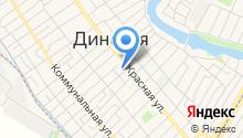 Управление социальной защиты населения Динского района на карте