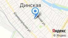 Управление пенсионного фонда РФ в Динском районе на карте