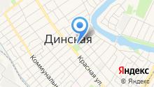 Динское хуторское казачье общество на карте