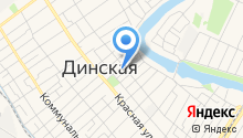 Динская автостанция на карте