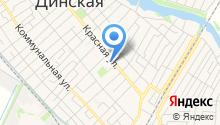 Культурное досуговое объединение Динского сельского поселения, МБУ на карте