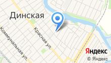 Продуктовый магазин на Хлеборобной (Динская) на карте