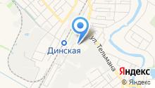 Динское автотранспортное предприятие на карте