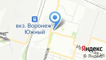 Воронежавтостекло на карте