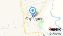 Отрадненская средняя общеобразовательная школа на карте