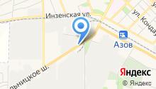 Фабрика развлечений на карте