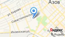 Мировые судьи г. Азова на карте