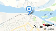 Азовский морской порт на карте
