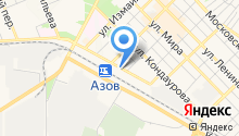 Служба судебных приставов по г. Азову и Азовскому району на карте