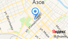 Межшкольный учебный комбинат г. Азова на карте