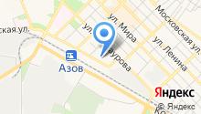 Лицей г. Азова, МБОУ на карте