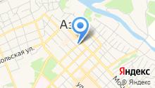 Отдел Военного комиссариата Ростовской области по г. Азов и Азовскому району на карте