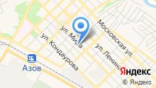 Эвакуатор Азов на карте