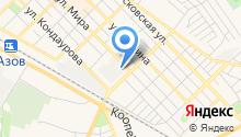 Азов-Тэк на карте