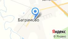 Баграмовская средняя общеобразовательная школа на карте