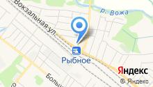 Управление пенсионного фонда РФ по Рыбновскому району на карте